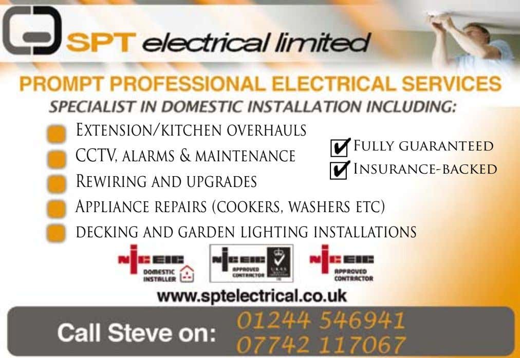 Extension/kitchen overhauls CCTV, alarms & maintenance Fully guaranteed Insurance-backed Rewiring and upgrades