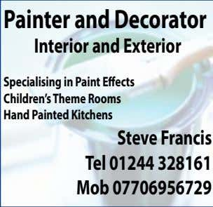 Painter andDecorator Interior andExterior Specialising in Paint Effects Children'sThemeRooms HandPaintedKitchens