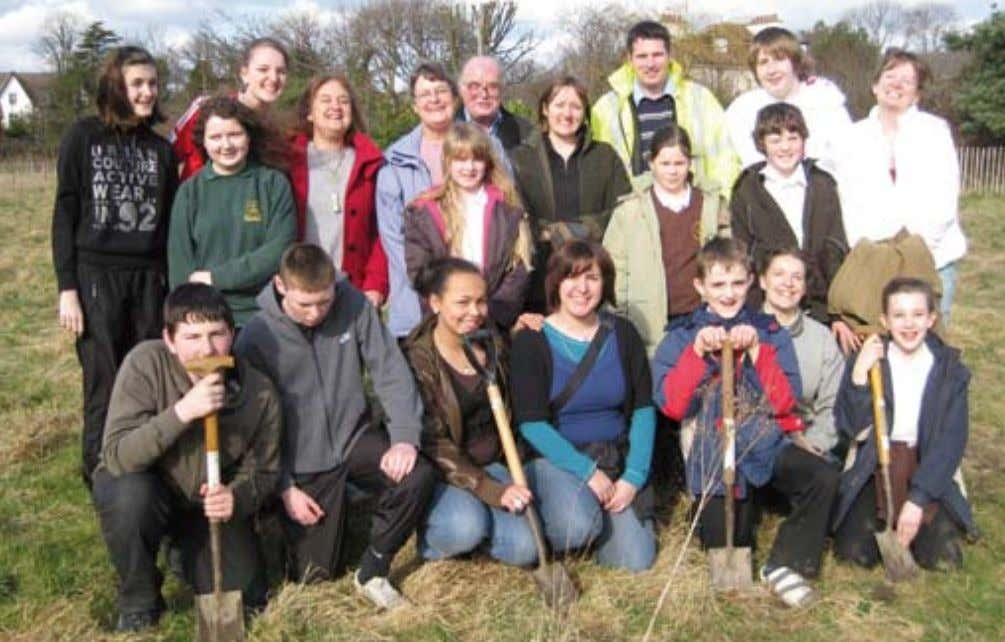 6 To advertise call 350398 Pupils dig deep as park improvements take shape CHILDREN from local