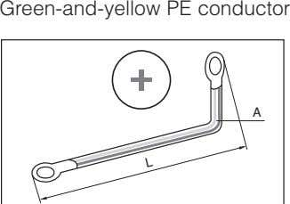 Green-and-yellow PE conductor A L