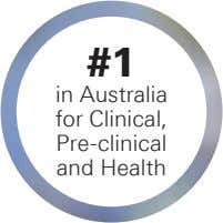 #1 in Australia for Clinical, Pre-clinical and Health