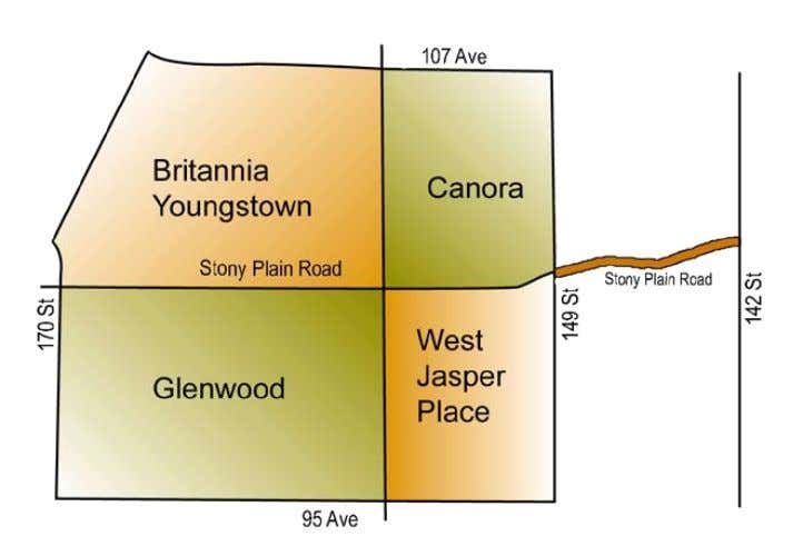 west to 170 Street. The commercial strip runs from 140 Street to 170 Street. The population