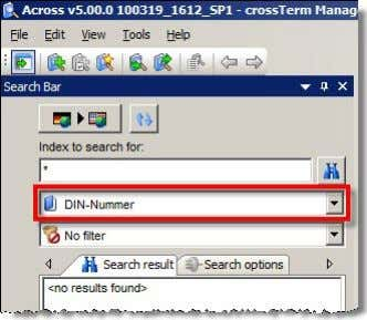 can be searc hed for by means of a special index search: What's New in Across