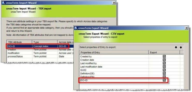 export, the index information can be exported from Across: What's New in Across v5.0 SP1? Status: