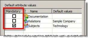 "by activating the box in the ""Mandatory"" column: What's New in Across v5.0 SP1? Status: September"