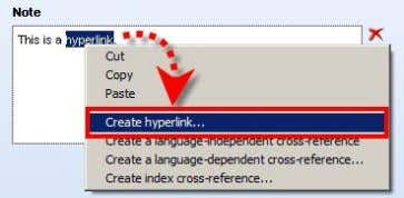 Now hyperlinks can also be inserted via the context menu: The advantage of this is that