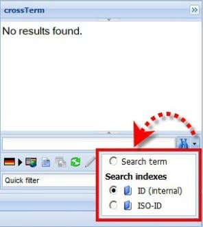 this index search by clicking the right part of the icon and selecting an index: Subsequently,