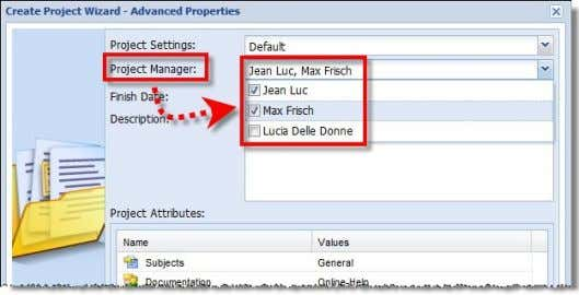 now also be assigned in crossWeb while creating the project and alternatively also in the Tasks