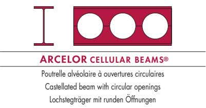 CELLULAR BEAMS ® Poutrelle alvéolaire à ouvertures circulaires Castellated beam with circular openings