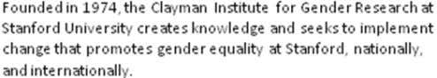 and Director of the Clayman Institute for Gender Research Copyright  2010 Board of Trustees of