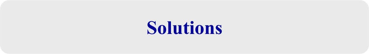 SolutionsSolutions