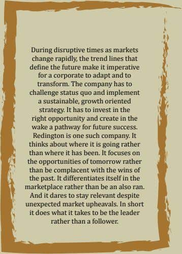 During disruptive times as markets change rapidly, the trend lines that define the future make