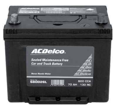 Duty - Heavy Duty Application DIN - European Applications ACDelco Sealed Maintenance Free Battery (SMF) ACDelco