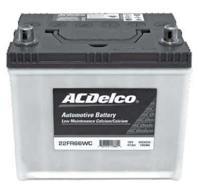 - European Applications ACDelco Sealed Maintenance Free Battery (SMF) ACDelco Low Maintenance Accessible Battery (LMA)