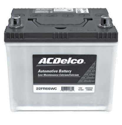 different battery designs: ACDelco Sealed Maintenance Free Battery (SMF) ACDelco Low Maintenance Accessible Battery (LMA)