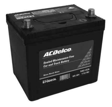7 Compare the ACDelco SMF battery advantage ACDelco Sealed Maintenance Free Battery (SMF) Conventional Battery -
