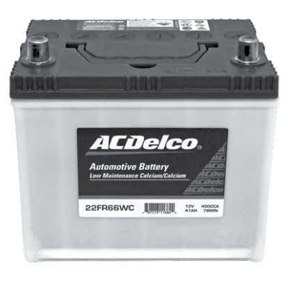 9 Compare the ACDelco LMA battery advantage ACDelco Low Maintenance Accessible Battery (LMA) Conventional Battery -
