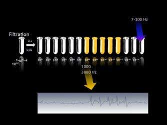 2 Figure 1: Measuring EMS in water decimal dilutions of DNA. In yellow, dilutions emitting EMS;