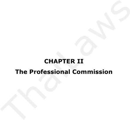 CHAPTER II The Professional Commission