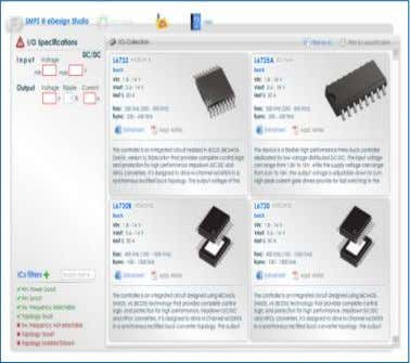Helps select the optimal IC for your needs You can filter the IC selecting specific features