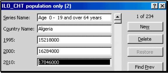 delete an entire row. Figure 10: The form for data entry 2.3 USING THE FORM AS