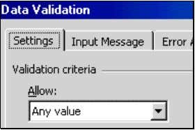 "on the butto n ""Clear All"". The next figure illustrates this. Figure 41: Removing Validation Rules"