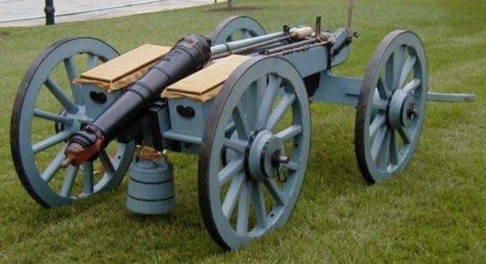 State Historic Site, 438 Fort Dobbs Road, Statesville, N.C. Iron 3-pounder and limber, 1st Continental Artillery