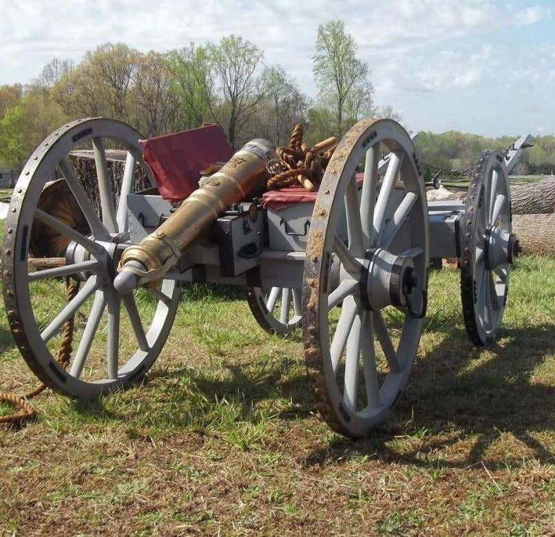 18 t h Century Cannons, Limbers, and Ammunition Wagons 3-pound field gun and limber. Fort Dobbs