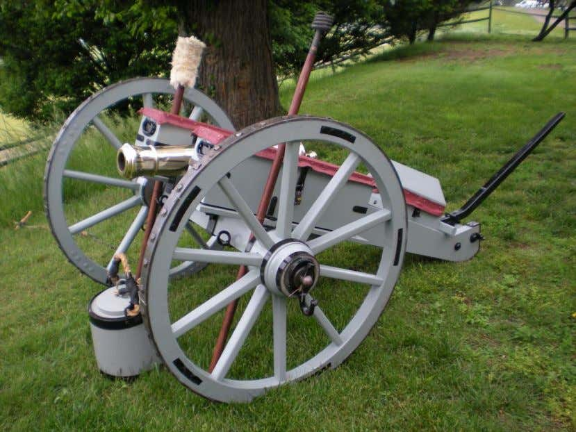(Above and below) 3-pounder, West Jersey artillery (living history unit).
