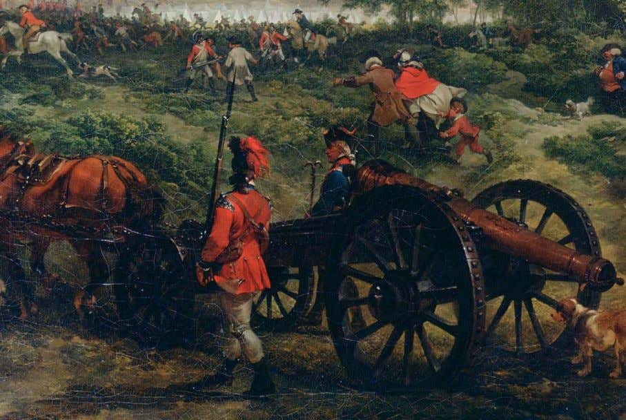 by Thomas Sandby. Yale Centre for British Art, Hartford, Ct. Artillery piece on the move, attached