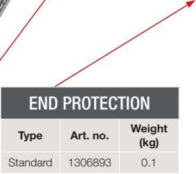 END PROTECTION Weight Type Art. no. (kg) Standard 1306893 0.1