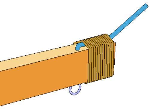 Arm. The Eye Screw is placed on the bottom and as close to the tip as