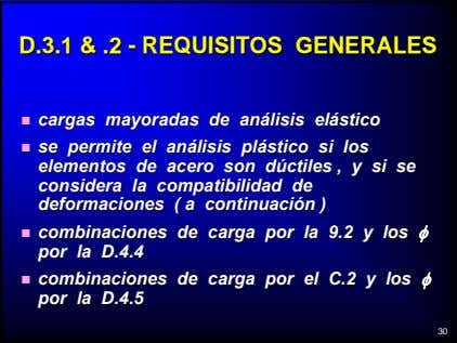 D.3.1D.3.1 && .2.2 -- REQUISITOSREQUISITOS GENERALESGENERALES cargascargas mayoradasmayoradas dede