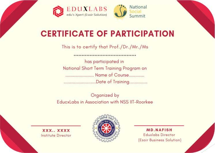 Sample of Training Certificate