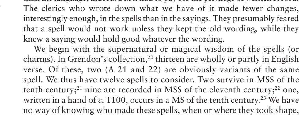 in a MS of the tenth century. 2 3 We have no way of knowing who