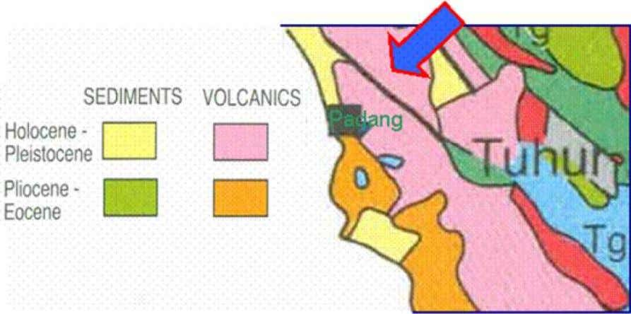 Figure 2. The geology condition around the study area
