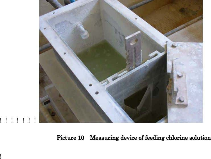 !!!!!!! Picture 10 Measuring device of feeding chlorine solution !