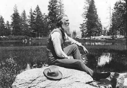 "what would be called a ""respect for nature"" philosophy. Figure 1.14: John Muir (1902). Photo courtesy"