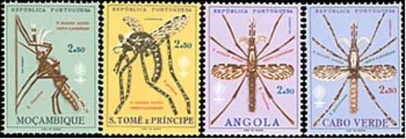 Stamps highlighting malaria eradication With the success of DDT, the advent of less toxic, more