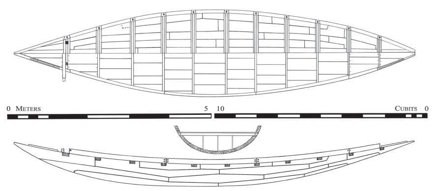 2010 Further INveStIgAtIoN oF the DAShur BoAtS 105 Fig. 4. a) Construction plan of gC 4926,