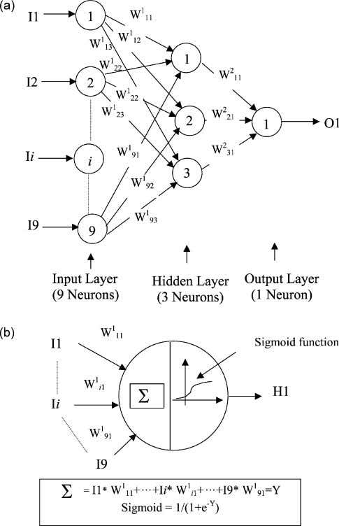 produce the network predictions to the outside world. Fig. 1. Artificial neural network. (a) A typical