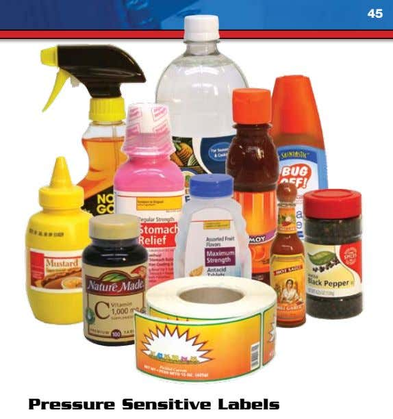 45 Pressure Sensitive Labels