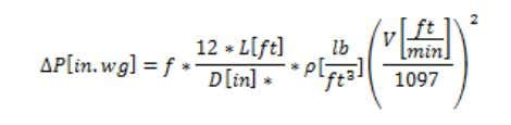 Mathematical Equation for Duct Pressure Loss Mathematically, the Darcy Weisbach equation may be used to determine