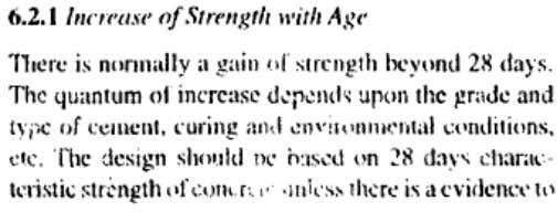 Chaecteristic strength and Acceptance criteria?