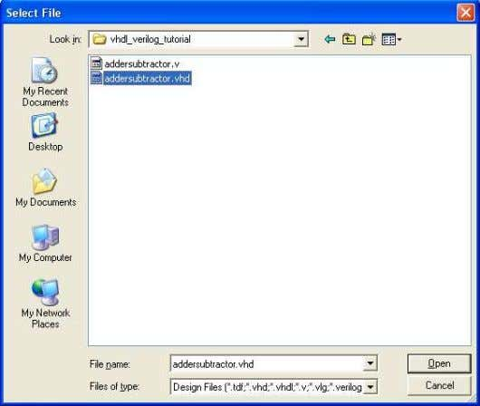 to the project, click on the pop-up window in Figure 18. Figure 18: Select the file.