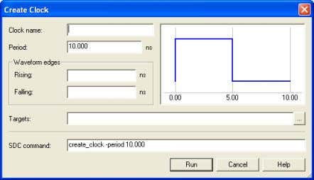 Create Clock window to get the pop-up window in Figure 33. A LTERA ® C ORPORATION