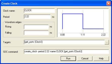 search. Click OK to return to the dialog box in Figure 34. Figure 34: Complete clock