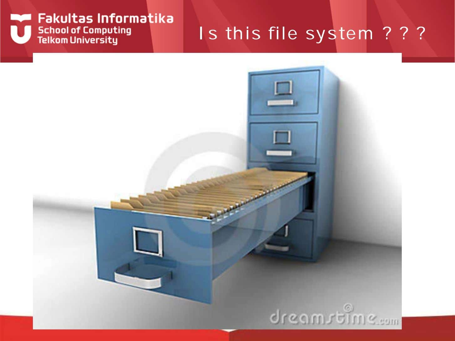 Is this file system ? ? ?