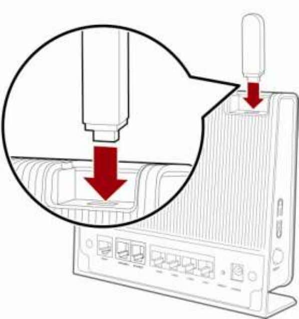 HG256s User Guide Figure 6-1 Home storage connection Step 3 Accessing the Storage Device by the