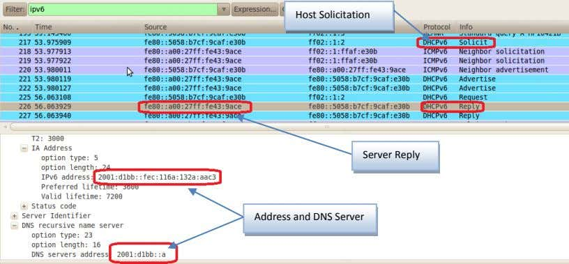 Host Solicitation Server Reply Address and DNS Server